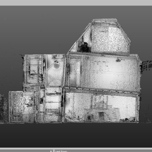 3D scan of listed cottage at Drinkstone reveals slight lean at first floor...