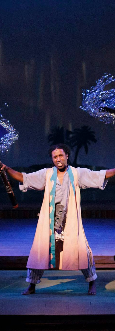 """Singing """"Rain"""" as Agwe in the Tony Award winning TheatreWorks Silicon Valley's production of Once on This Island"""