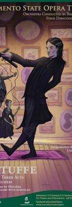 Kirke Mechem's Tartuffe Poster,  Art by Paul Antonson