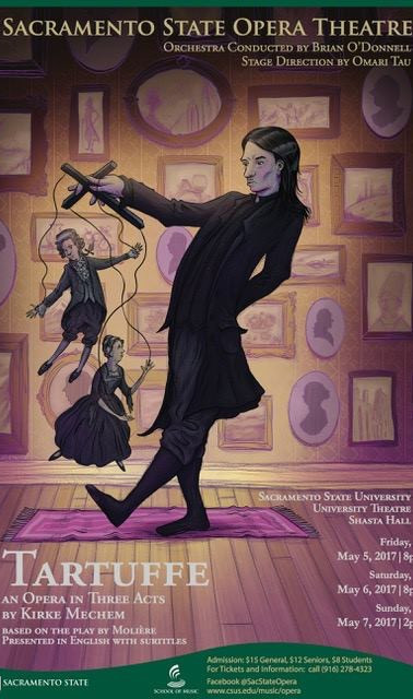 Kirke Mechem's Tartuffe Poster,  Art by Paul Antonson