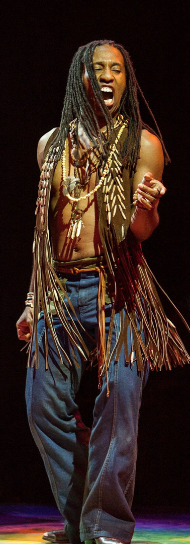 """As Hud in Broadway at Music Circus' production of Hair singing """"Colored Spade"""""""