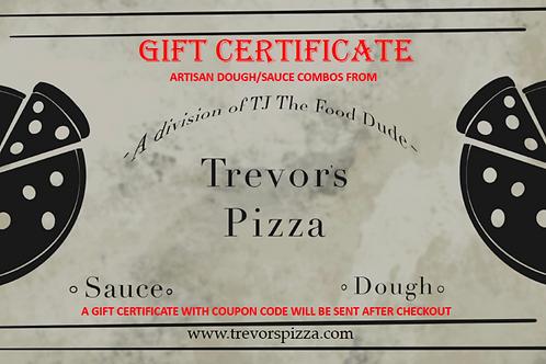 Gift Certificate - 4 Artisan Dough/Sauce Combos -Frozen