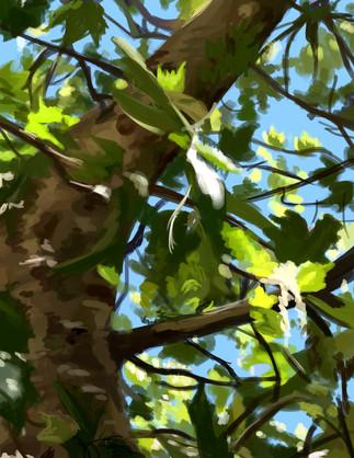 Scenery Painting - Leaves