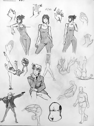 Sketchbook Gesture Drawing