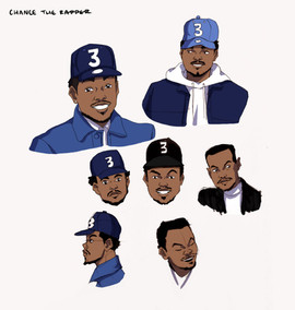 Chance the Rapper Animated Project - Chance Sketches