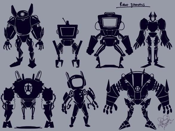 Robot Silhouettes