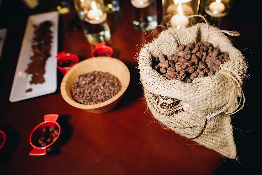 Mesa de Chocolate del Grano a la barra