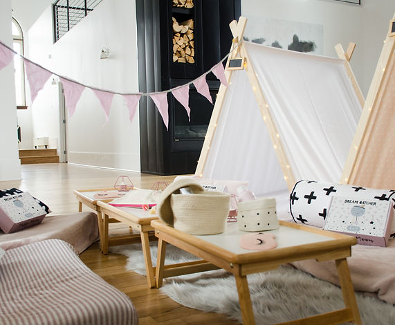 Teepee sleepover party