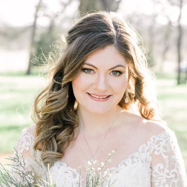 bride smiling makeup lindsay stone
