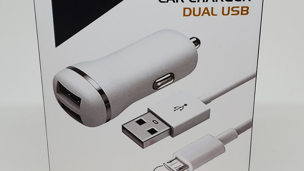 Micro USB dual car charger and cable
