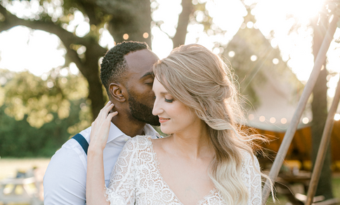 outdoor lace wedding dress in texas