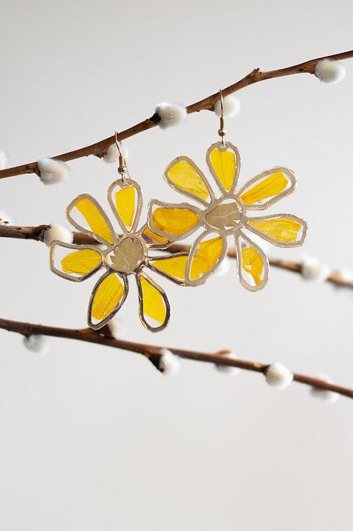 Flower floral earrings