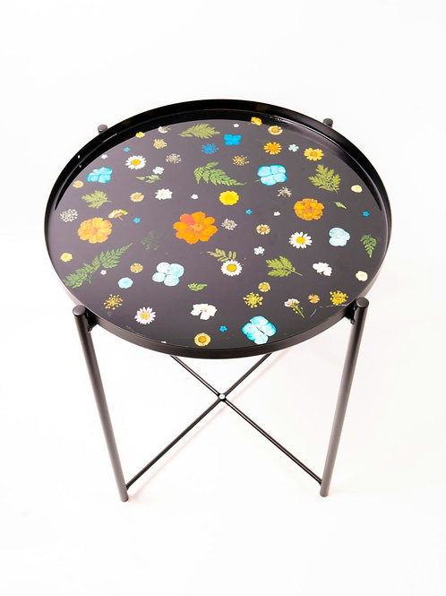 Black Floral Table