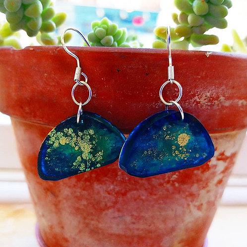 Dreamy Blue Sparkle Earings