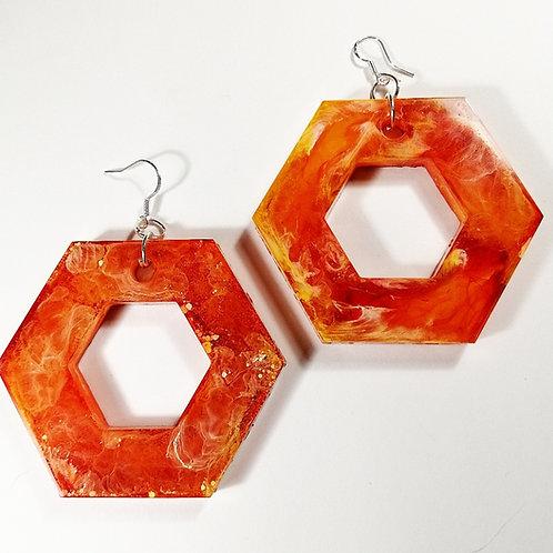 Vibrant resin Earrings
