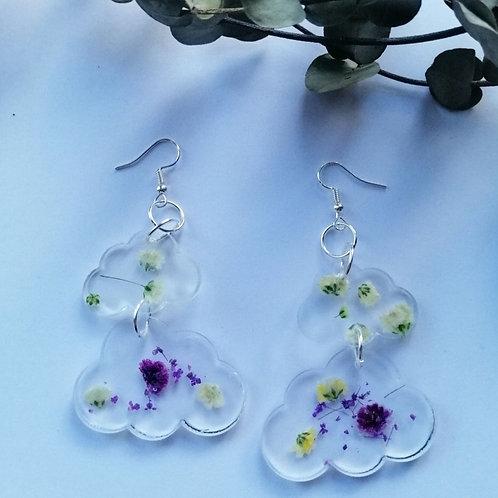 Purple rain earrings