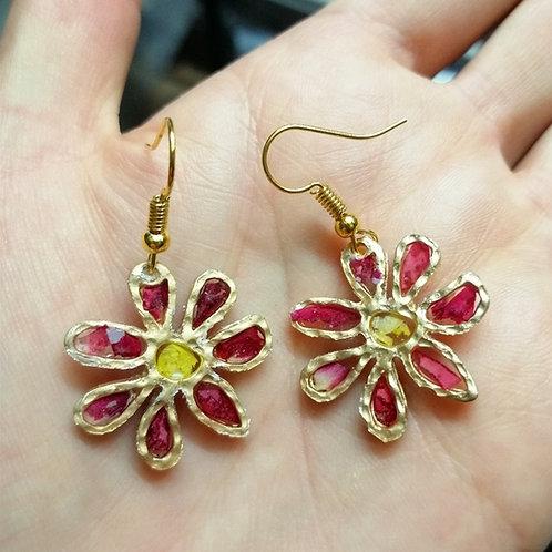 Mini flower earrings