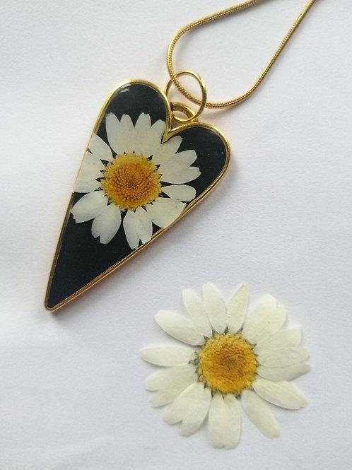 Daisy heart gold necklace🌼