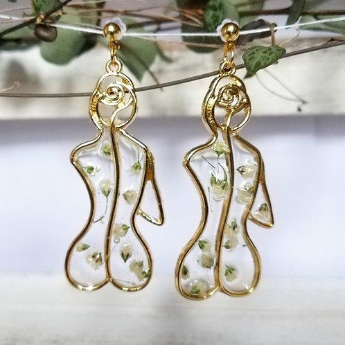 Female figure earrings