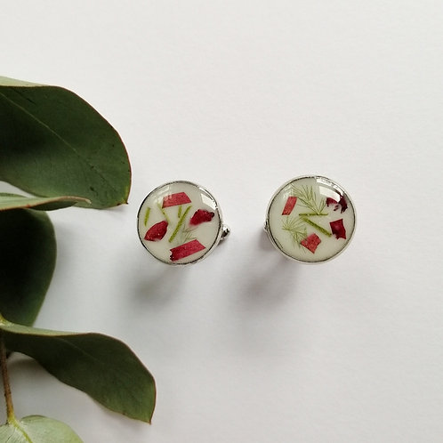 Mens floral Cuff links