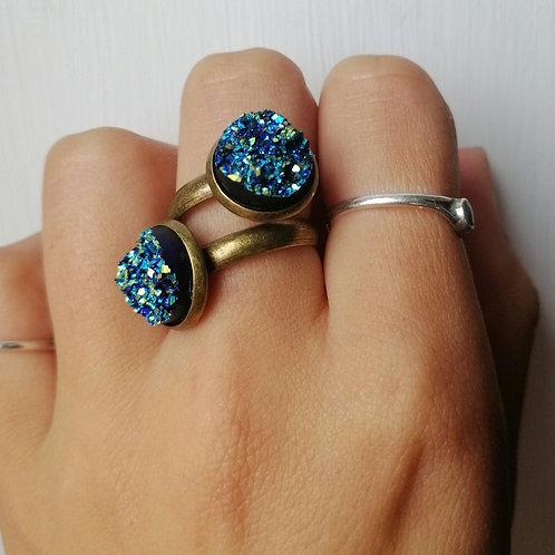 Midnight sparkle (adjustable ring)