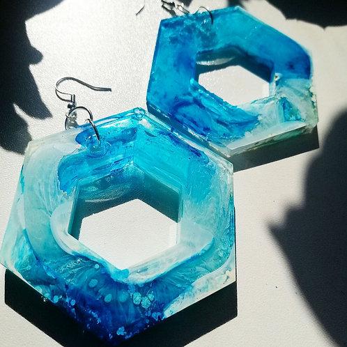 Sea scape earrings