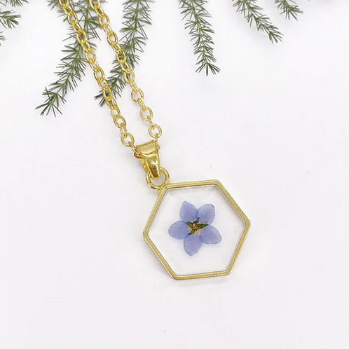 Forget me not pendent