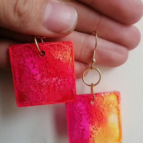Colour burst earrings