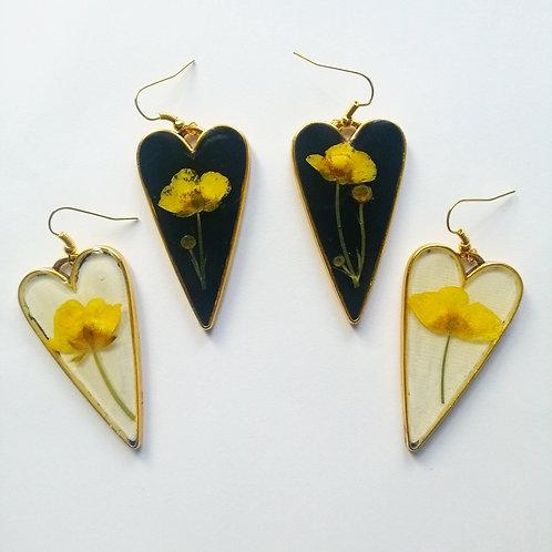 Buttercup Heart Earrings