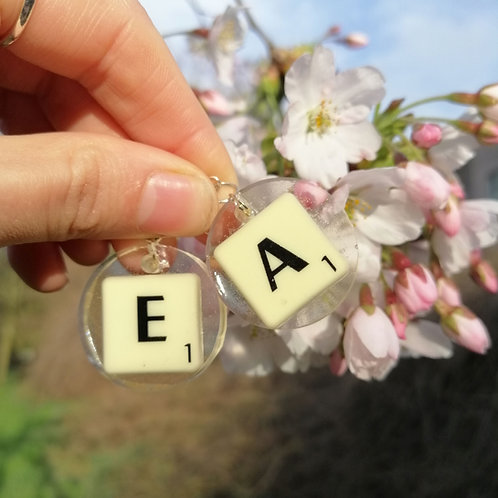 Scrabble Earrings 🌻