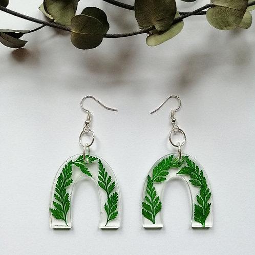 Fern dangley earrings