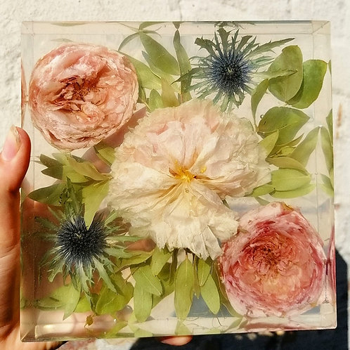 6 inch floral block