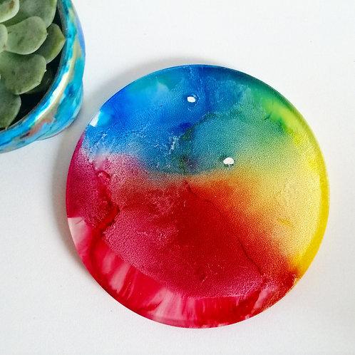Rainbow coasters set of 2