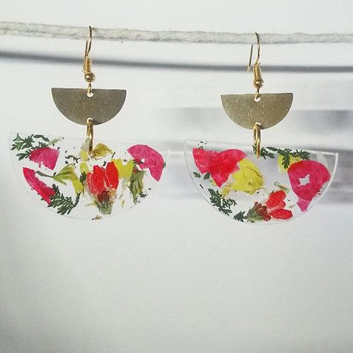 Floral confeti earrings