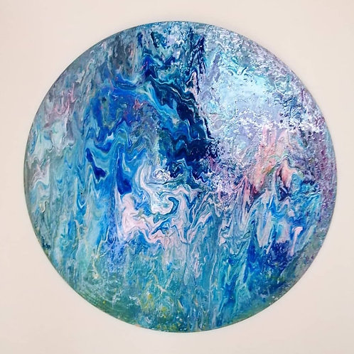 Large resin painting