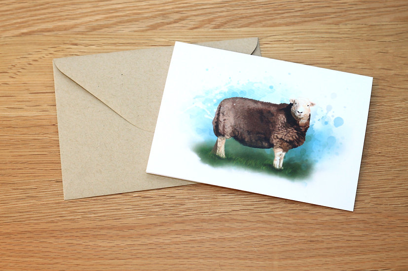 Herdwick Sheep illustration greeting card