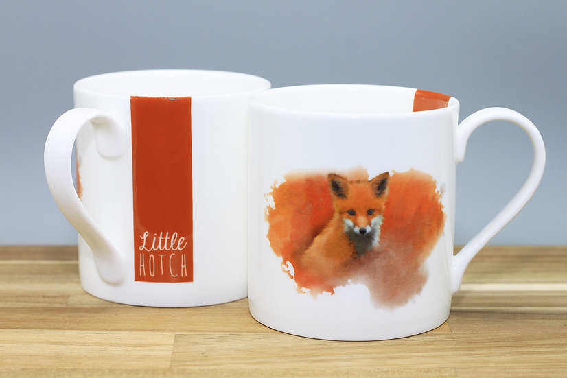 Little Fox bone china mug
