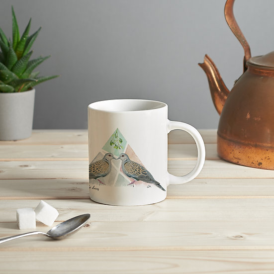 Two turtle doves mug