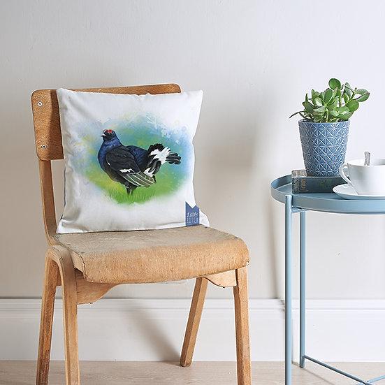 Black grouse cushion