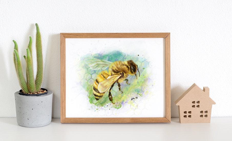 Worker bee print