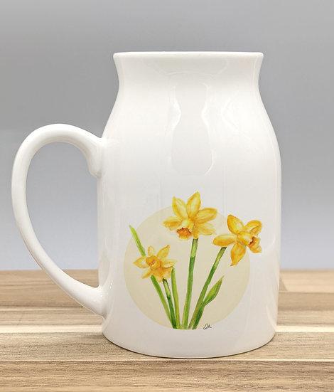 Daffodil ceramic jug