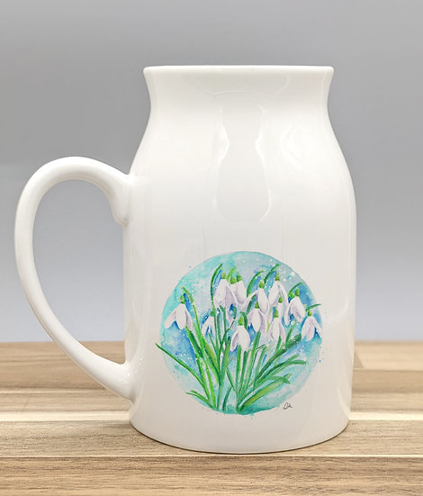 Snow drop ceramic jug