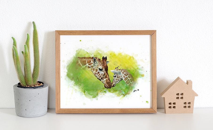 Giraffe A3 Print of 50