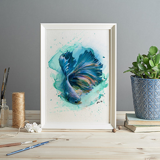Betta fish print