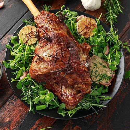 Leg of lamb roast bone in