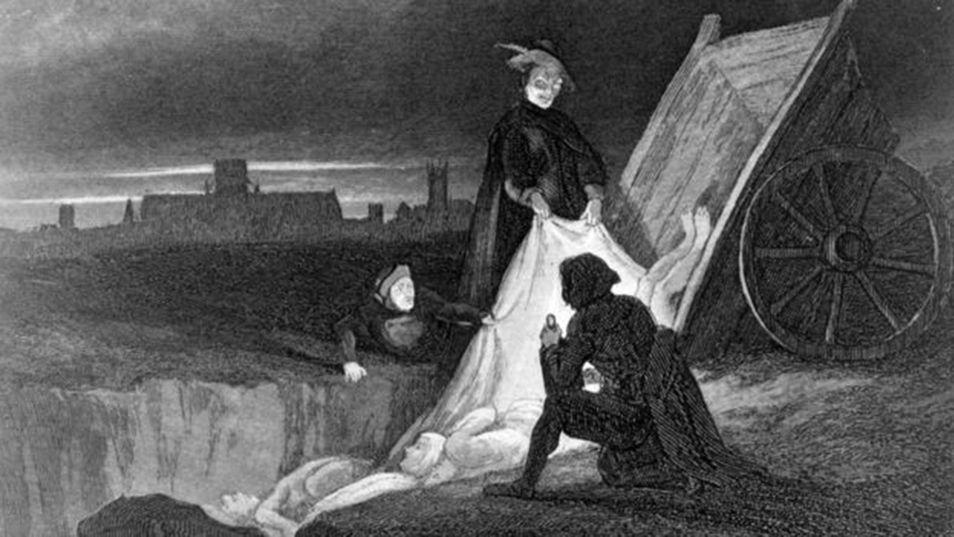 RESİM 02.   1885  _Bir veba mezarlığında