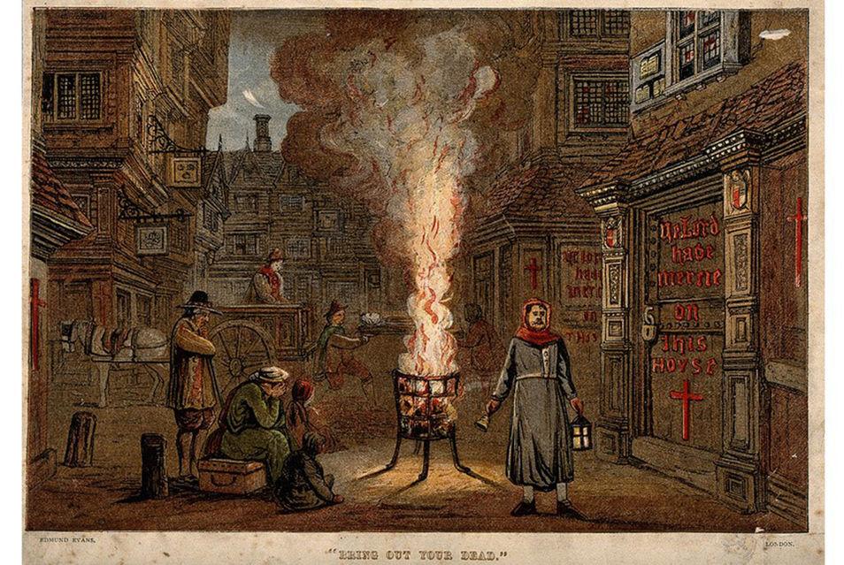 RESİM 07.  1665 Büyük Londra Vebası İllü