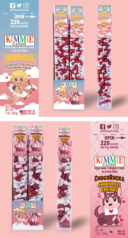 Seasonal label design for Kimmie Candy.  Products & Logos © Kimmie Candy