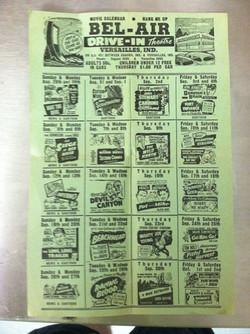 Bel Air Drive Ad -Circa early 1960's