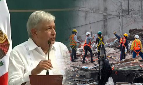 Presenta AMLO plan nacional de reconstrucción por sismos